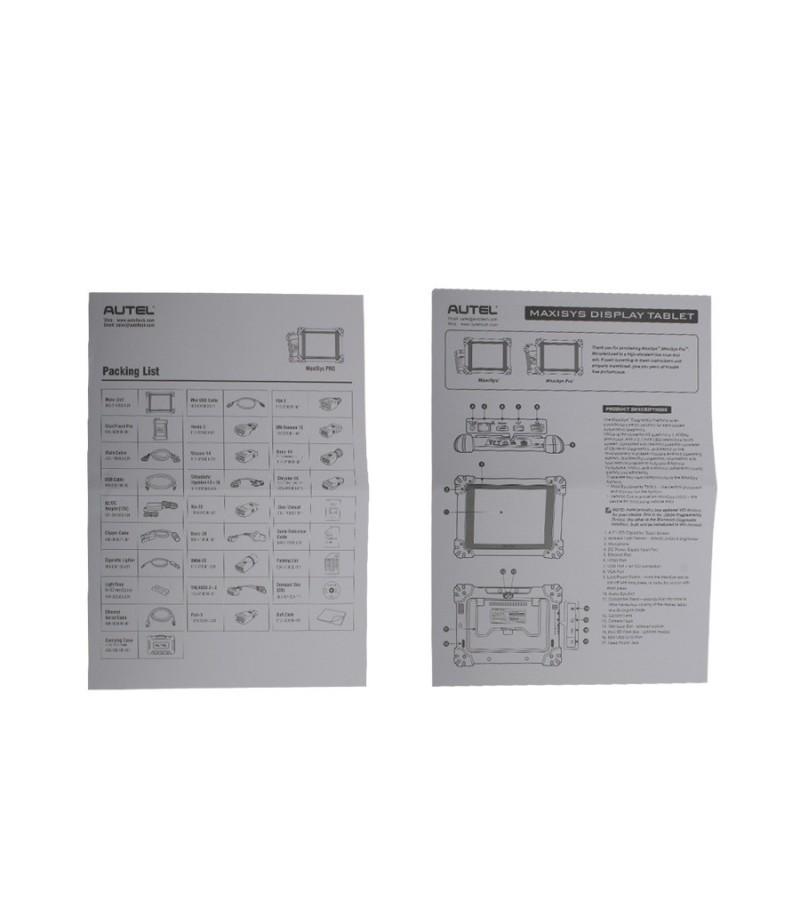 Original Autel MS908P MaxiSys MS908s Pro Wifi OBD Full System Diagnostic with J2534 MaxiFlash Elite