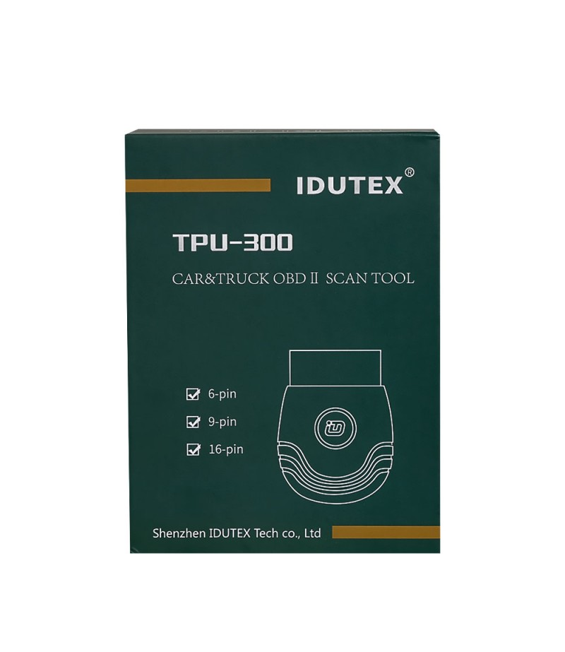 IDUTEX TPU300 Passenger Cars & Commercial Vehicle OBD2 Scanner