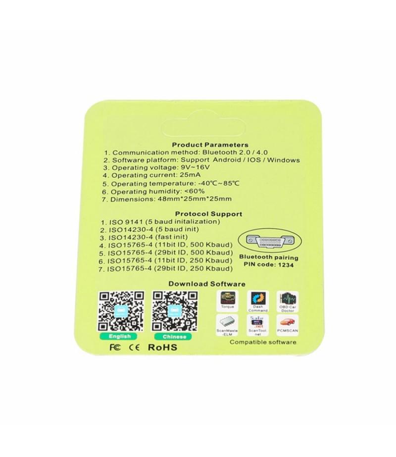 MINI OBD2 V4.0 Newest ELM327 OBDII OBD2 EOBD Code Scanner for iOS/ Android/ Windows Car Diagnostic Interface