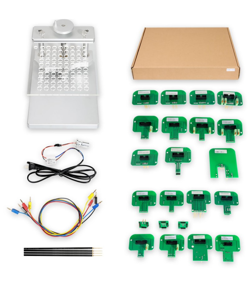 Latest Version LED BDM Frame With 4 Probes Mesh + BDM Probe Adapters For KESS Dimsport KTAG Full Set