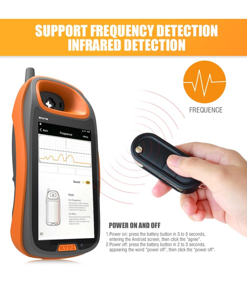 KYDZ Smart Key Programmer Android Handheld Supports Remote Test Frequency-Refresh Generate Chip Recognition-Smart Card Generate