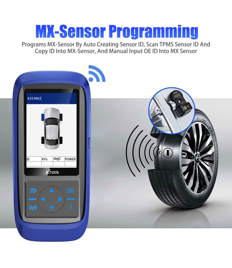 XTOOL TP150 Tire Pressure Monitoring System OBD2 TPMS Scanner Tool with 315&433 MHZ Sensor