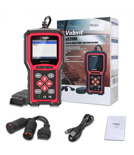 Vident iEasy320HD Diesel Truck Diagnostic Tool OBD2 Scanner Automotive Code Reader Trucks Cars OBD2 Diagnostic Tool