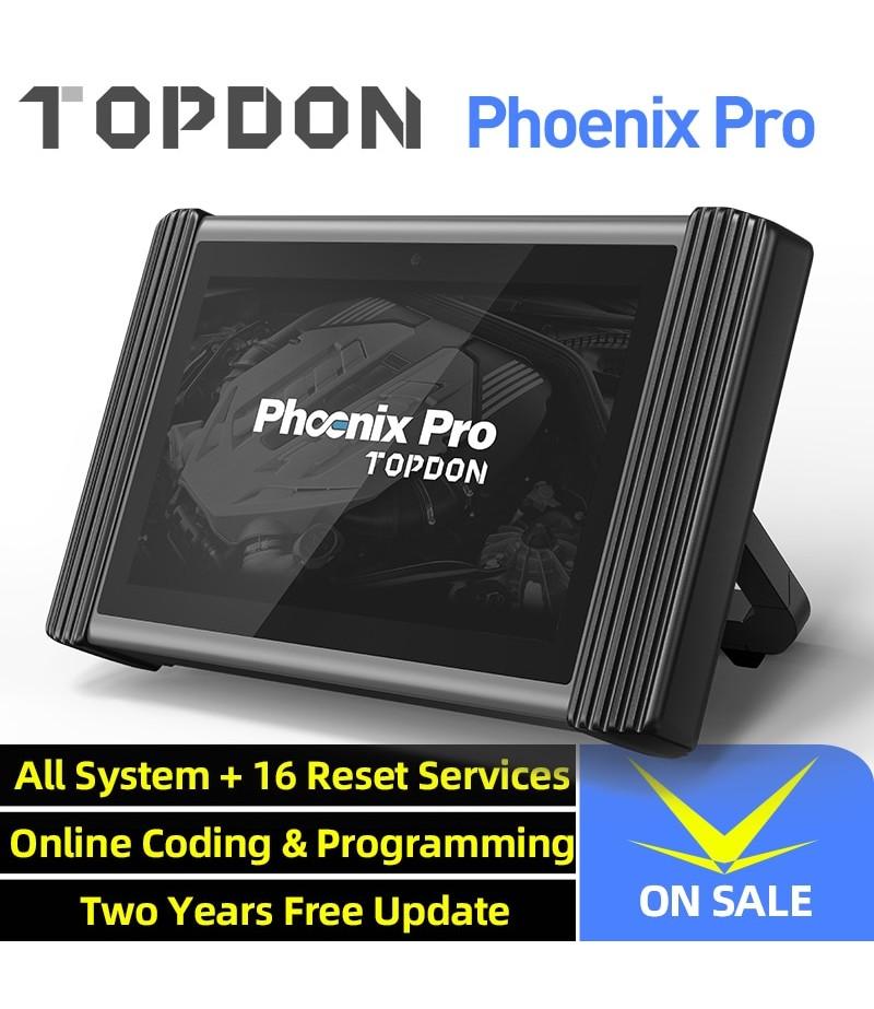 TOPDON Phoenix Pro Online Programming Tool Car Diagnostic Scanner Auto Scan Automotive Professional Diagnosis ECU Coding 2 Years