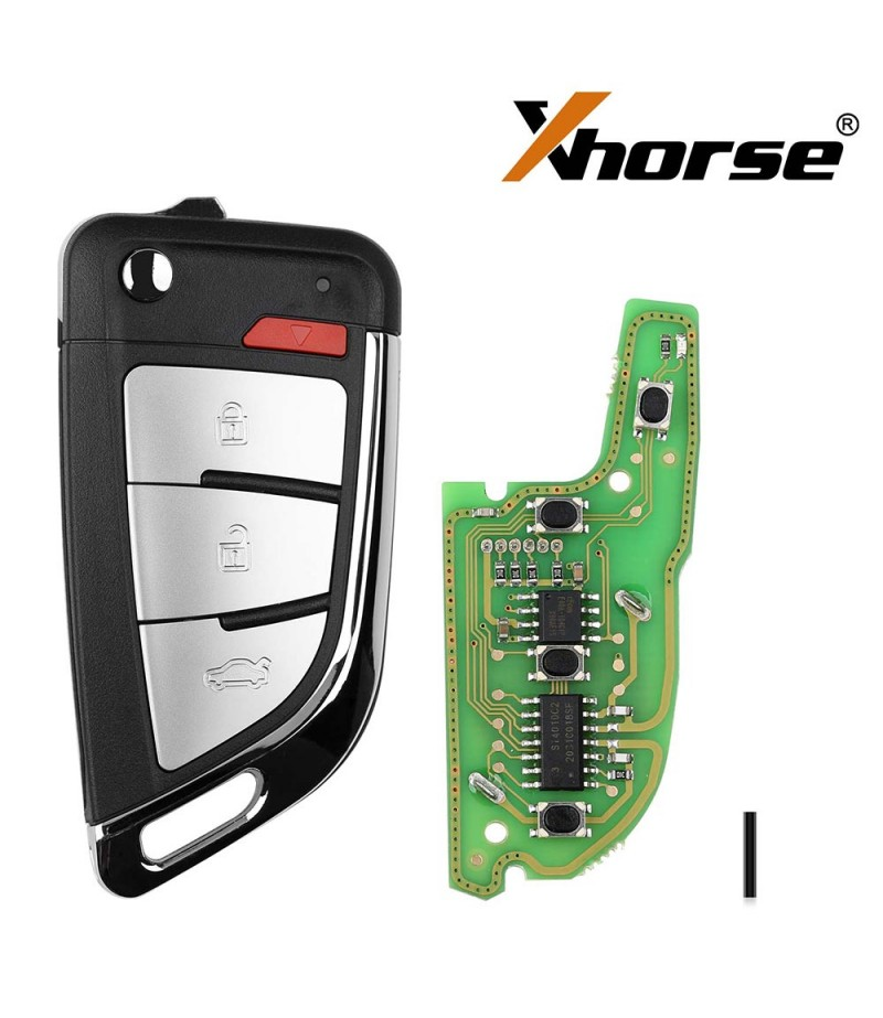 Xhorse XKKF20EN Wire Remote Key Memoeial Knife Style 3 Buttons 5pcs/lot