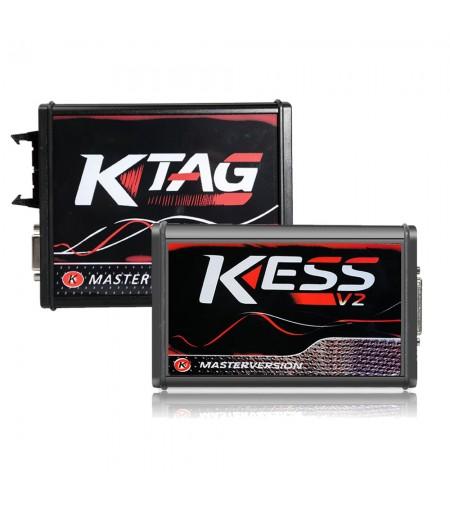 (US Ship No Tax) Kess V2 V5.017 Online Version V2.70 for 140 Protocol and EU Version V2.23 KTAG 7.020 Firmware Red PCB