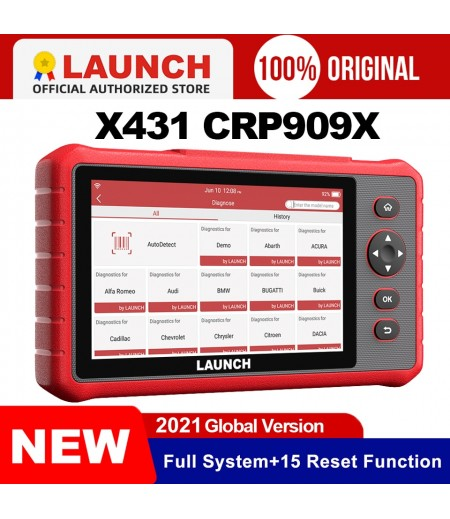 Launch x431 crp909x obd2 scanner full systems auto code reader wifi diagnostic tool OBDII EOBD automotive tool pk crp909 mk808