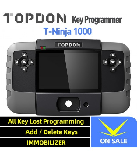 TOPDON T-Ninja 1000 Key Programming Tool All Key Lost Immobilizer Read Pin Delete Add Key Key Coding
