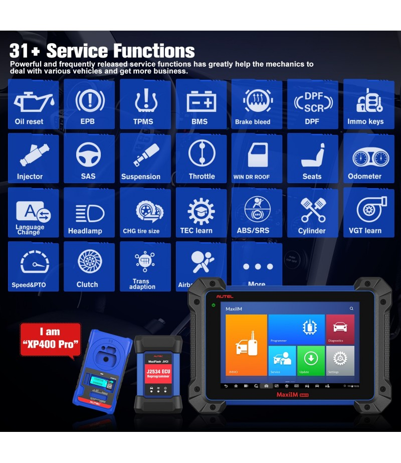 Autel MaxiIM IM608 Pro with IMMO XP400 Pro Key Programming Tool J2534 Reprogrammer, 30+ Services Functions All Systems Diagnosis
