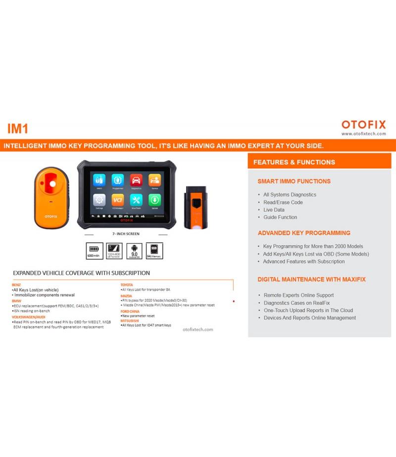 Autel OTOFIX IM1 Automotive Key Programming & Diagnostic Tool with Advanced IMMO Key Programmer