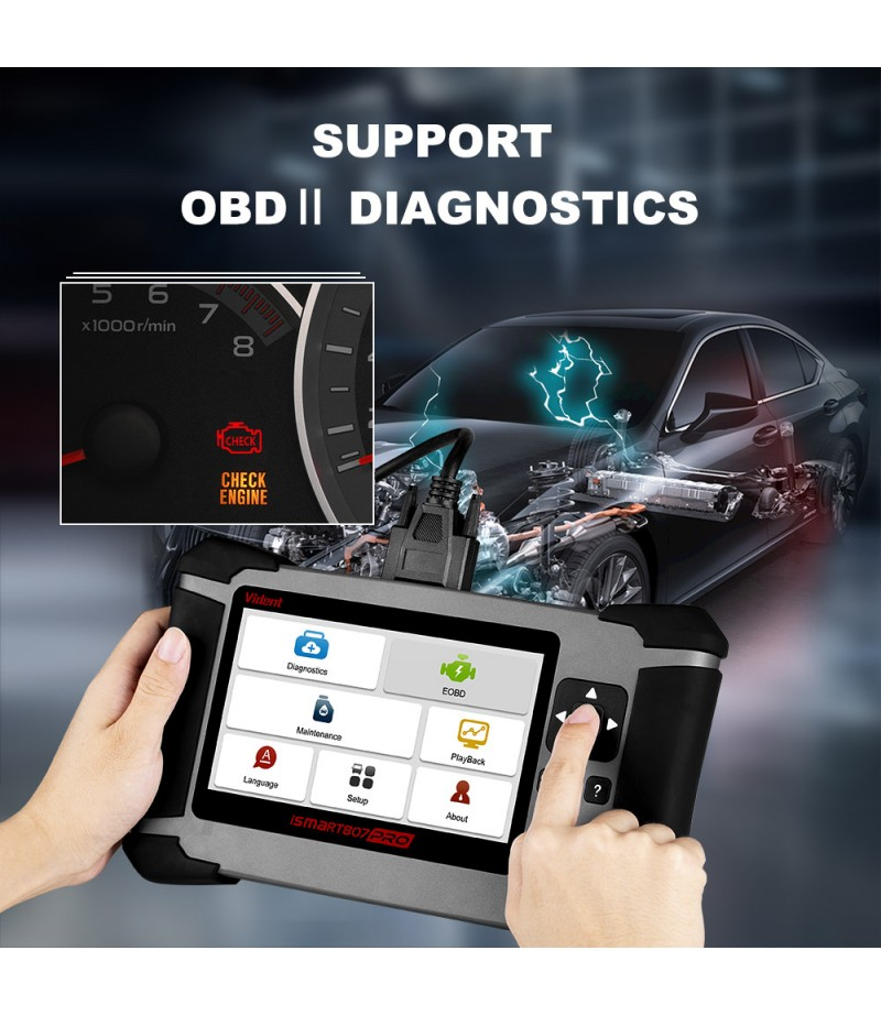 Vident iSmart807Pro All System OBD OBDII Scanner OBD OBD2 All Makes Diagnostic Tool DPF ABS AIRBAG OIL LIFE RESET