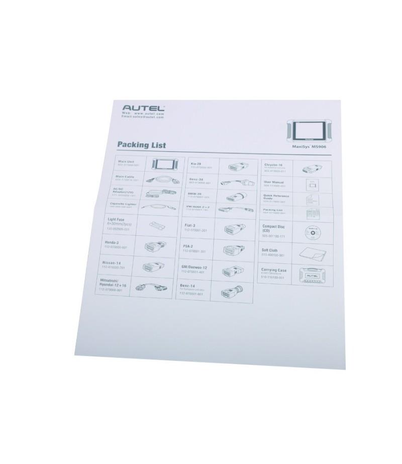 AUTEL MaxiSYS MS906 Auto Diagnostic Scanner Next Generation of Autel MaxiDAS DS708