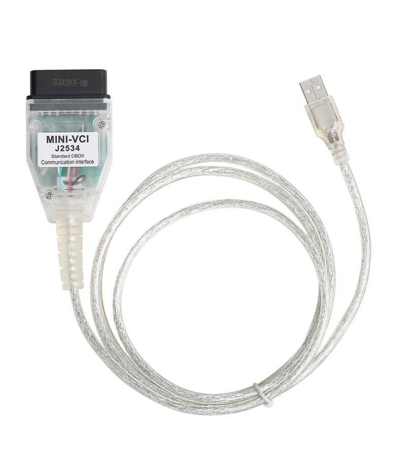 MINI VCI J2534 Single Cable Supports Toyota TIS Techstream V16.00.017 Diagnostic Software
