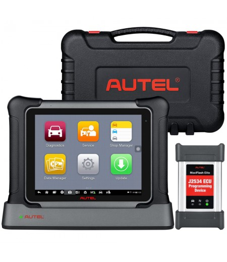 Autel Maxisys Elite II OBD2 Diagnostic Scanner Tool with MaxiFlash J2534 Same Hardware as MS909 Upgraded Version of Maxisys Elite