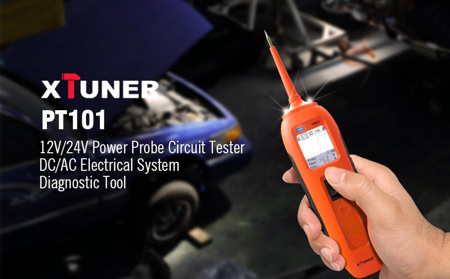 XTUNER PT101 12V/24V Power Probe Circuit Tester