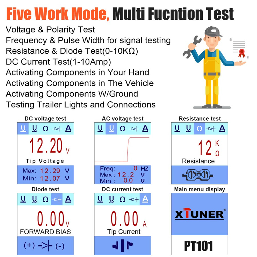 XTUNER PT101 Five Work Mode