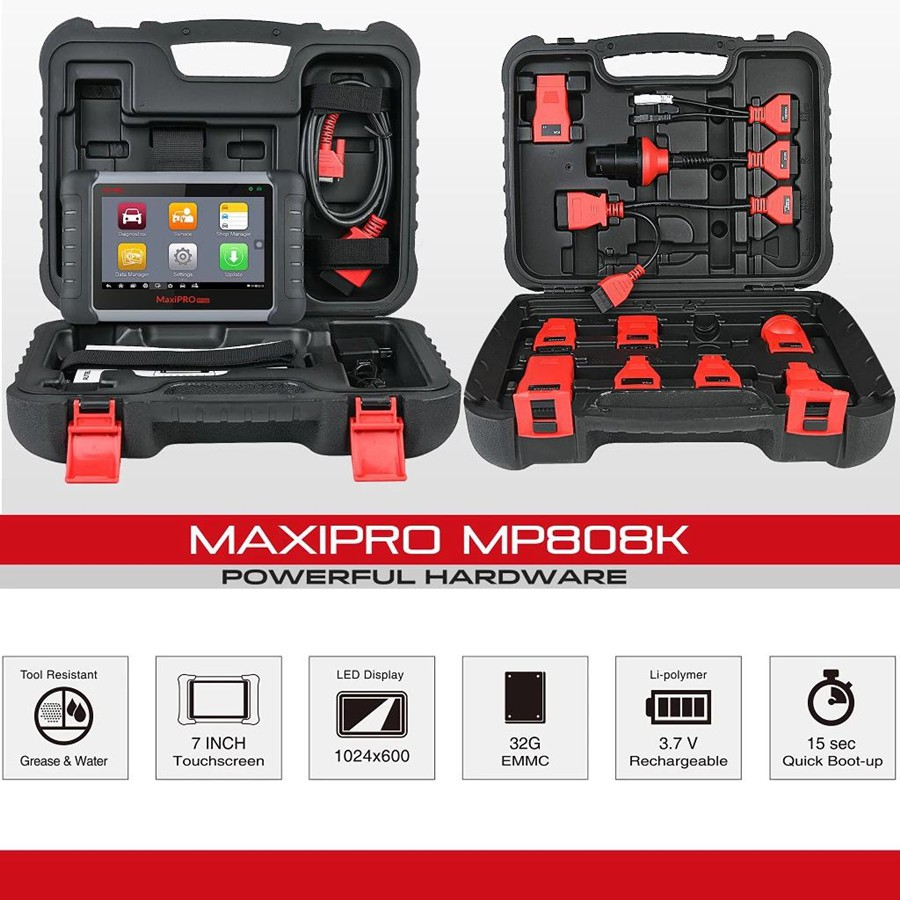 Autel MaxiPRO MP808K package