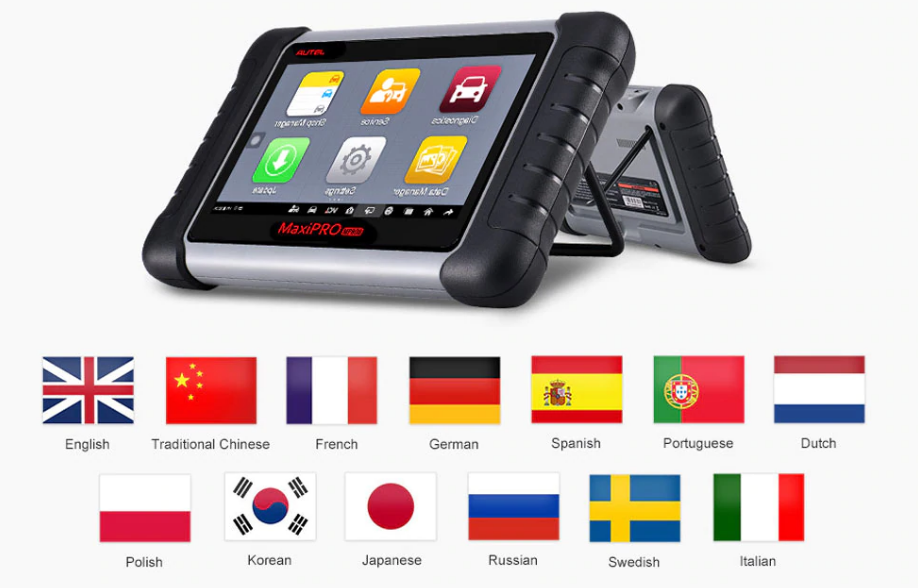 Autel MaxiPro MP808K Languages