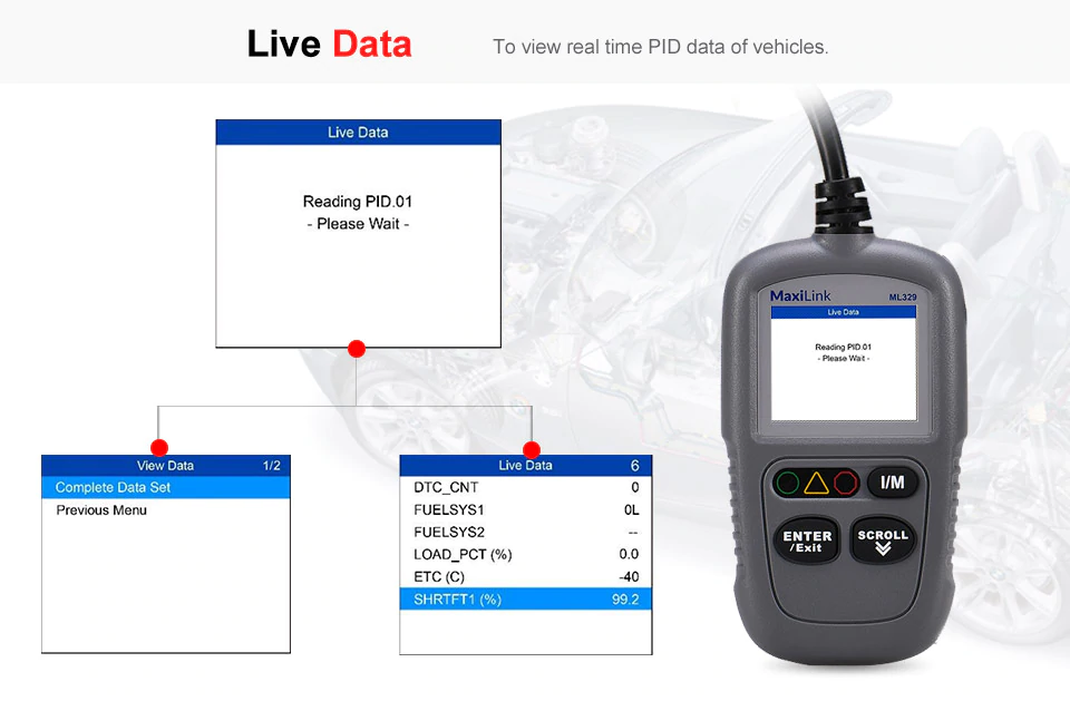 Autel MaxiLink ML329 Live data