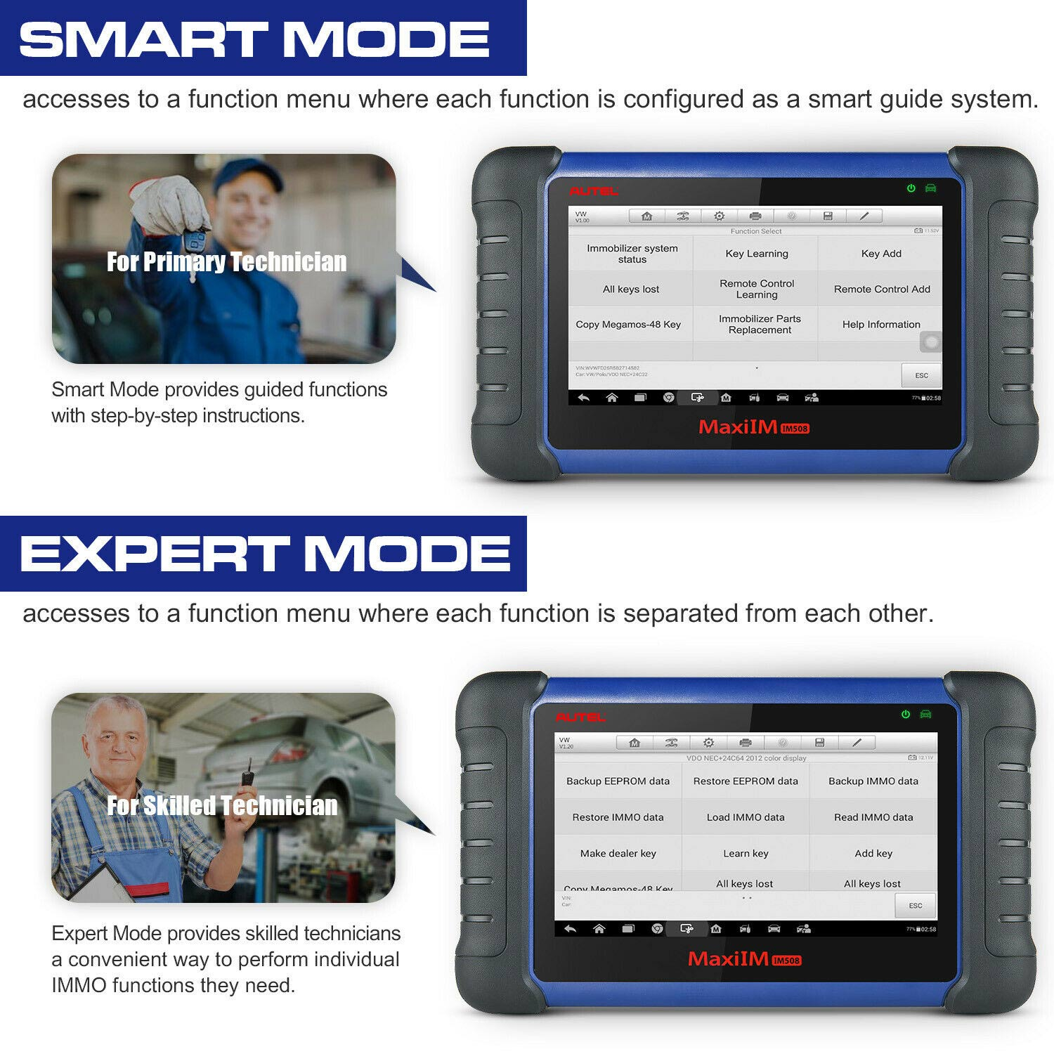 MaxiIM IM508 Smart Mode