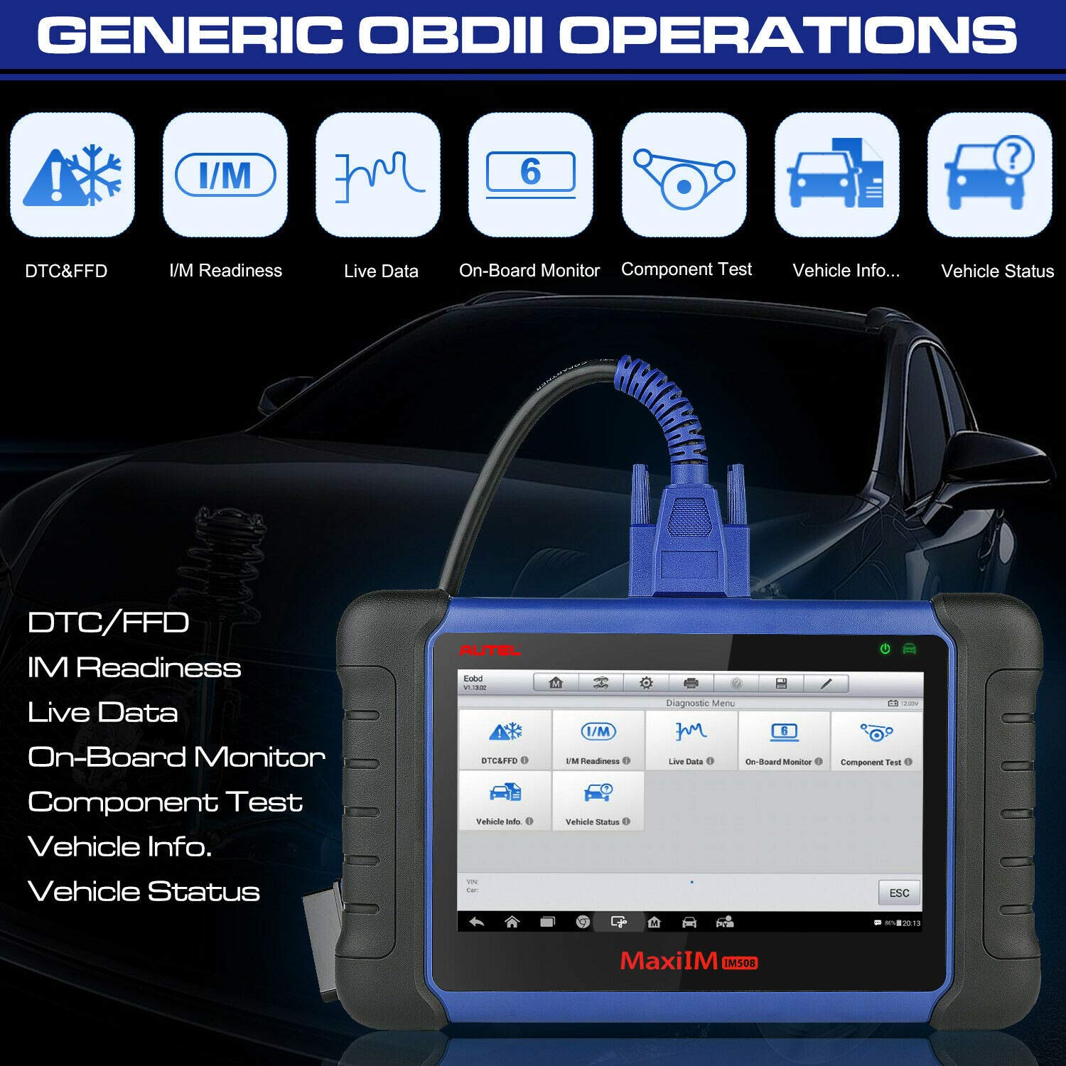MaxiIM IM508 OBDII Operations