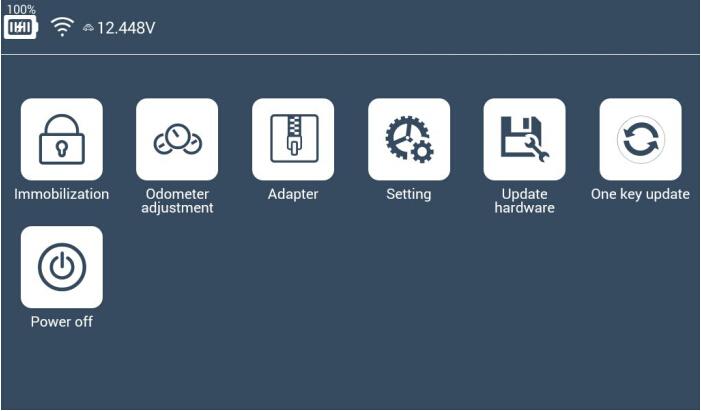 Lonsdor K518ISE Main interface: