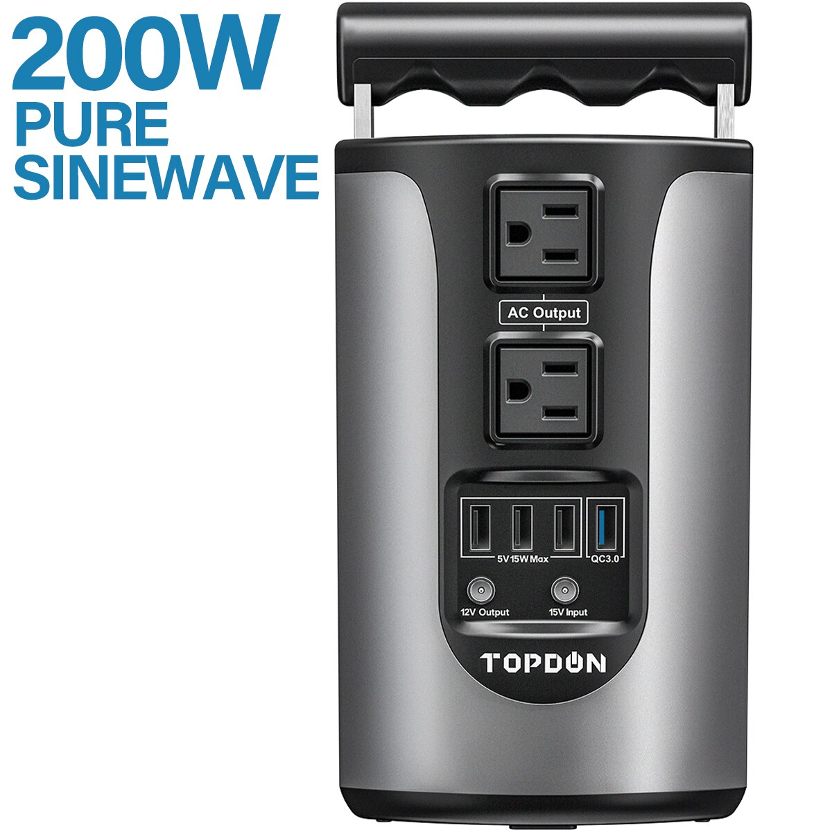 Topdon-H200-Portable-Energy-Storage-Power-Supply-185WH-Capacity-200W-Pure-Sinesave-Energy-Storage-Power-Supply-With-4-USB-Ports-1005002130052063